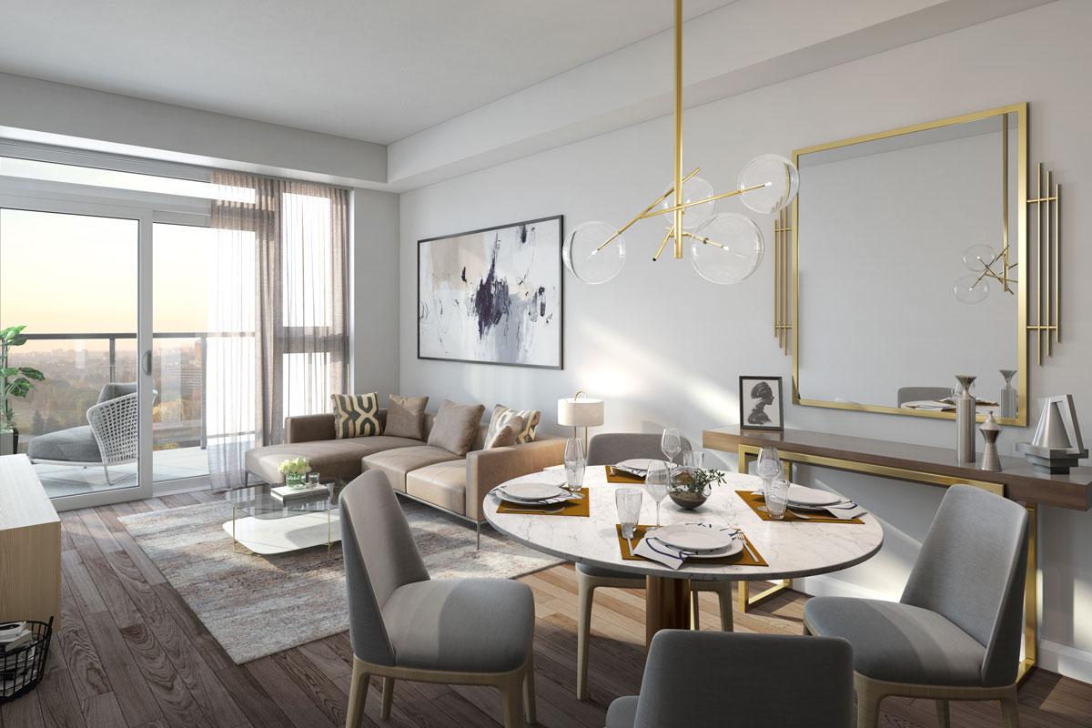 Keystone Condos Living Room